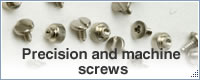 Precision and machine screws